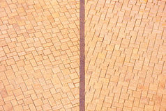 Brick footpath background. Stock Photography