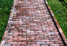 Brick Footpath Stock Photo