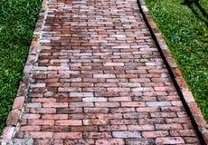 Brick Footpath Stock Photo