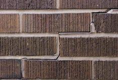 Brick foundation damage Stock Image