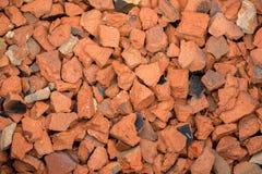 Brick fraction on the ground Stock Photo