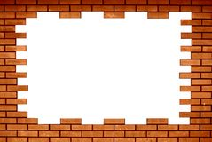 Brick frame royalty free stock photos