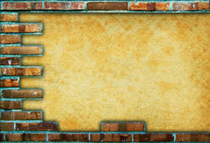 Brick frame Stock Photography