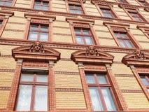 Brick front Stock Image