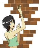 Brick girl Stock Images
