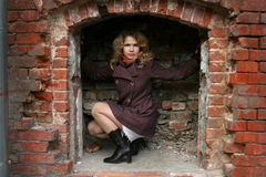 brick girl recess Στοκ εικόνα με δικαίωμα ελεύθερης χρήσης