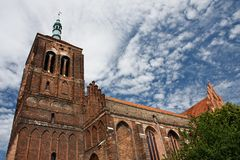 Brick gothic church Royalty Free Stock Image
