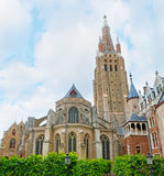 The brick Gothic Church in Bruges Stock Photo
