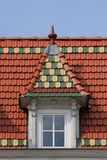 Brick Gothic Roof Stock Image