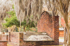 Brick Grave Colonial Park Cemetery Savannah GA Royalty Free Stock Photography