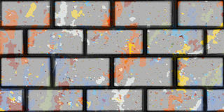 Brick gray wall color spots  background seamless Stock Photography