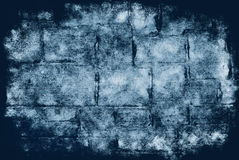 Brick Grunge Background. Combination of paper and sandstone textures, in blue-black tones Stock Images