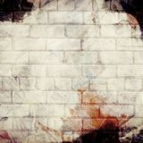 Brick grunge painted wall background Royalty Free Stock Images