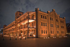 Brick hall - night shot Stock Image
