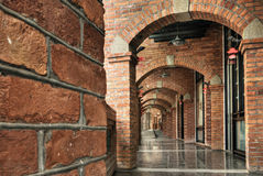 Brick hallway Stock Images
