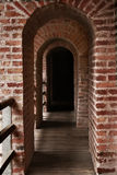 Brick hallway Royalty Free Stock Image