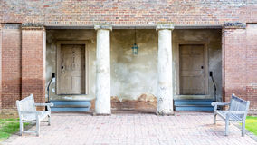 Brick historic church in Alabama with wood benches Stock Photography