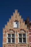 The brick historic house (Bruges, Belgium) Stock Photo