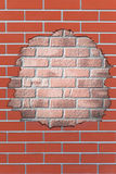 Brick hole Royalty Free Stock Photo