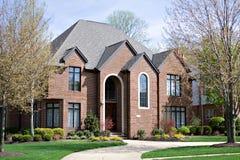 Brick Home Stock Photo