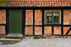 Brick home. Entrance and window of a brick home Royalty Free Stock Photography
