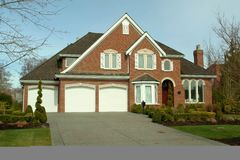 Brick Home Exterior stock images