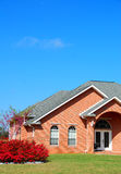 Brick Home with Landscaping Royalty Free Stock Photos
