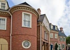 Brick home neighborhood Stock Image