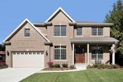 Brick home in suburbs Royalty Free Stock Photos