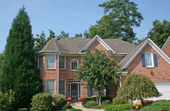 Brick Hosue 8. Nice brick house and blue sky Stock Photo