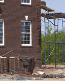 Brick house. Brick construction stock photos