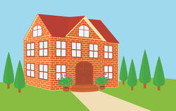 Brick house stock illustration
