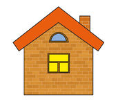 Brick house. The stylised brick house on a white background Royalty Free Stock Photos