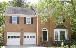 Brick House with Bay Window Stock Photo