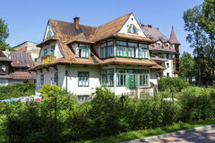 Brick house,  built around year 1910 in Zakopane Stock Photos