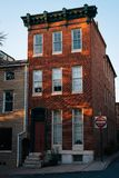 Brick house in Butchers Hill, Baltimore, Maryland.  stock images