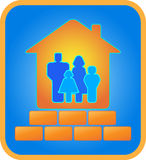 Brick house for the family. Beautiful brick house for the family Stock Photos