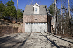 Brick house with garage Stock Photography