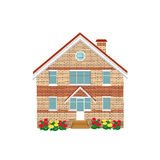 Brick house, illustration Stock Photos