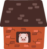 Brick House Pig Stock Photography