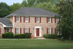 Free Brick House Red Trim Royalty Free Stock Photos - 3093058