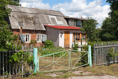 Brick house in a Russian village Royalty Free Stock Photos