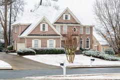 Brick House After Snow Royalty Free Stock Images
