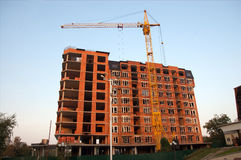 Brick house under construction Stock Image