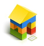 Brick house. wooden toy Royalty Free Stock Photography