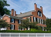Brick House Woodstock Vermont. A well kept brick house in Woodstock, Vermont stock photography