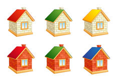 Brick houses Stock Photos