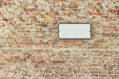 brick inc τοίχος σημαδιών Στοκ Εικόνες