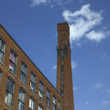 Brick industrial chimney Stock Image