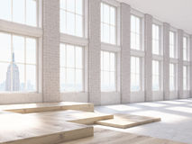 Brick interior side Royalty Free Stock Images
